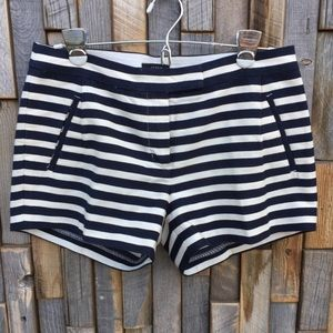 Woman's striped J Crew shorts size 4 pockets